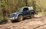 9 Land Rover Defender Hard Top Commercial 90 UK FD offroad front
