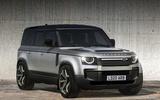 Land Rover Defender V8 render 2020 - static front