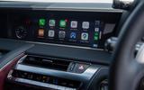 9 Lexus LC500 2021 UK FD infotainment