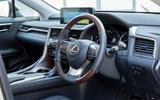 9 Lexus RX 450h L 2021 UK FD steering wheel
