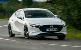 Mazda 3 100th Anniversary edition 2020 UK first drive review - cornering front