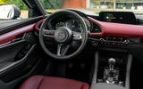 Mazda 3 Skyactiv-X 2019 first drive review - steering wheel