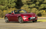 Mazda MX-5 2.0 Sport Tech 2020 UK first drive review - cornering front
