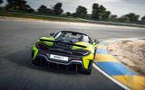 McLaren 600LT Spider 2019 first drive review - track rear