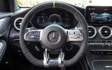 Mercedes-AMG GLC 63 S Coupé 2019 first drive review - steering wheel