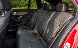 Mercedes-Benz C300e 2020 UK first drive review - rear seats
