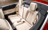 Mercedes-Benz E-Class e450 Cabriolet 2020 UK first drive review - rear seats