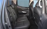 Nissan Navara 2020 UK first drive review - rear seats