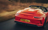 Porsche 911 Speedster 2019 UK first drive review - rear end