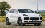 Porsche Cayenne Turbo S E-hybrid 2019 first drive review - static front