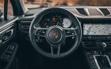 Porsche Macan 2019 first drive review - steering wheel