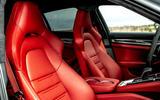 Porsche Panamera e-Hybrid 2020 UK first drive review - front seats