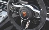 Porsche Panamera GTS 2019 UK first drive review - steering wheel