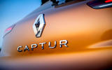 Renault Captur 2019 first drive review - rear badge