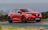 9 Renault Megane RS 300 EDC 2021 UK first drive review on road front
