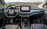 9 Skoda Enyaq 2021 LHD UK first drive dashboard