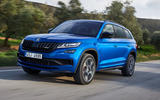 Skoda Kodiaq vRS 2018 first drive review - on the road front
