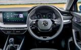 Skoda Octavia hatchback 2020 UK first drive review - dashboard