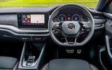 Skoda Octavia vRS Estate 2020 UK first drive review - steering wheel