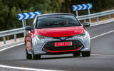 Toyota Corolla 2018 prototype first drive - cornering front