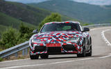 Toyota Supra 2019 prototype first drive review on the road front
