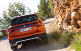 Volkswagen T-Cross 2019 first drive review - cornering rear
