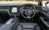 Volvo V60 D4 Inscription 2018 UK first drive review dashboard