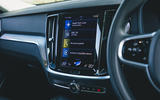 9 Volvo V60 B3 Momentum 2021 UK first drive review infotainment