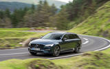Volvo V90 Recharge T6 2020 UK first drive review - cornering front
