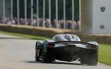 90 Aston Martin Valkyrie Goodwood passenger ride rear