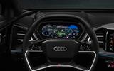 90 Audi Q4 Etron 2021 prototype drive steering wheel