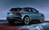 Audi Q4 E-tron electric SUV Geneva 2019 official press images - static rear