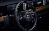 Honda e 2019 prototype drive - steering wheel