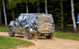 2020 Land Rover Defender prototype ride - on the road rear