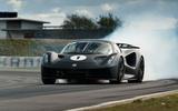 90 Lotus Evija 2021 track drive smoke