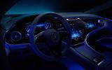 90 Mercedes Benz EQS interior official steering wheel night