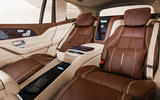 Mercedes-Maybach GLS 600 official press images - rear seats