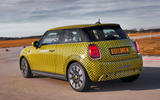 Mini Cooper SE prototype drive 2019 - on the road rear