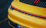 2019 Porsche 911 Carrera S track drive - rear end