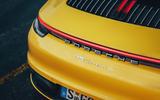 2019 Porsche 911 Carrera S track drive - rear end
