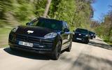 90 Porsche Macan GTS 2021 prototype drive on road front