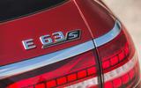 90 super estate triple test 2021 E63 rear badge