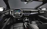 91 Audi Q4 Etron 2021 prototype drive dashboard