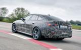 91 BMW i4 2021 prototype drive cornering