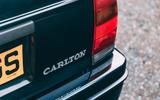 Lotus Carlton at 30 - rear badge