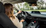 Mazda e-TPV prototype 2019 first drive review - Rachel Burgess cornering