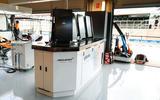 91 McLaren Racing sustainability feature garage