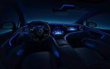 91 Mercedes Benz EQS interior official cockpit night