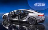 91 Mercedes EQS official reveal images doors open