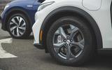 91 Mustang Mach e ID 4 Polestar 2 triple test 2021 alloy wheels